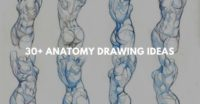 30+ Anatomy drawing ideas
