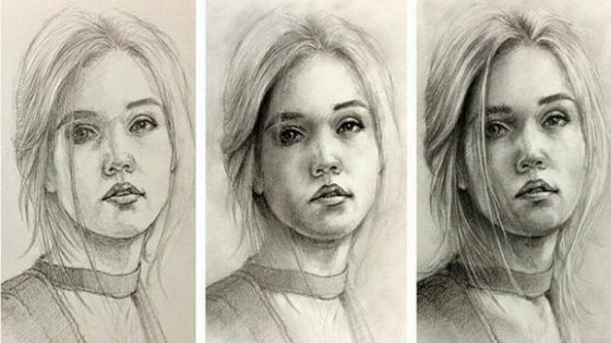 portrait step by step